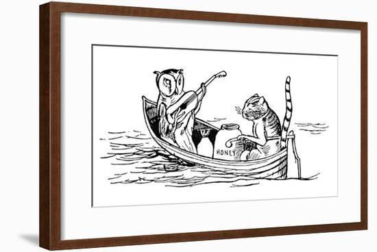 The Owl and the Pussycat-Edward Lear-Framed Giclee Print