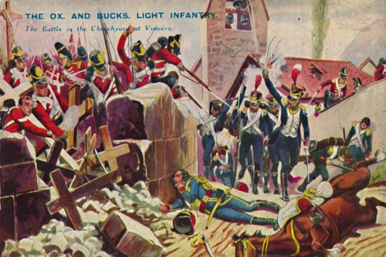 'The Ox. And Bucks. Light Infantry. The Battle in the Churchyard at Vimiero', 1808, (1939)-Unknown-Giclee Print