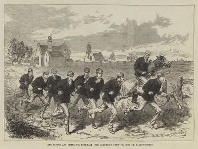 The Oxford and Cambridge Boat-Race, the Cambridge Crew Training on Barnes-Common--Giclee Print