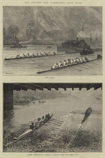 The Oxford and Cambridge Boat Race-Godefroy Durand-Giclee Print