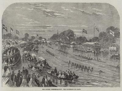 The Oxford Commemoration, the Procession of Boats--Giclee Print