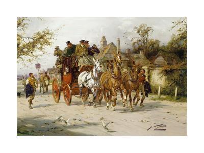 The Oxford to London Mail-George Wright-Giclee Print