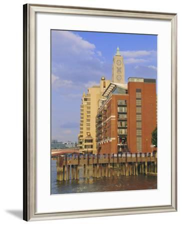 The Oxo Tower, South Bank of the River Thames, London, England, UK-Fraser Hall-Framed Photographic Print