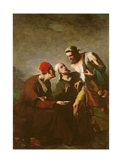 The Oyster and the Litigants-Auguste Theodule Ribot-Giclee Print