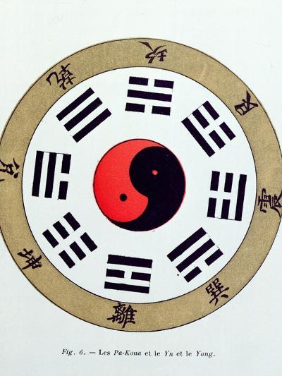 The Pa-Kua Symbol, Showing the Symbols For the Eight Changes, the Trigrams and Yin and Yang--Giclee Print