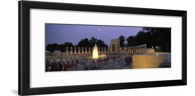 The Pacific Pavilion and Pillars at the World War Ii Memorial-Richard Nowitz-Framed Photographic Print