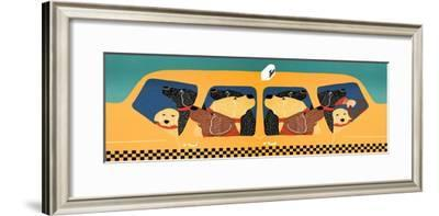 The Pack Instinct Diptych Taxi-Stephen Huneck-Framed Giclee Print