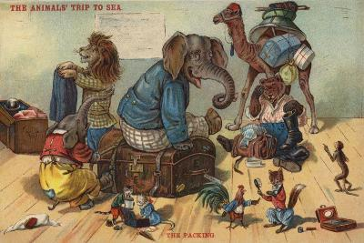The Packing - the Animals' Trip to Sea--Giclee Print