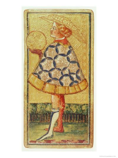 The Page of Coins, from a Pack of Tarot Cards-Antonio Di Cicognara-Giclee Print