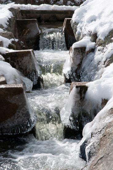 The Paine's Creek Herring Ladder with Ice and Snow in Winter-Darlyne A^ Murawski-Photographic Print