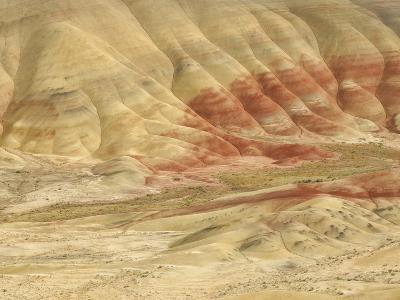 The Painted Hills at the John Day Fossil Beds National Monument, Oregon, USA-Peter Carroll-Photographic Print