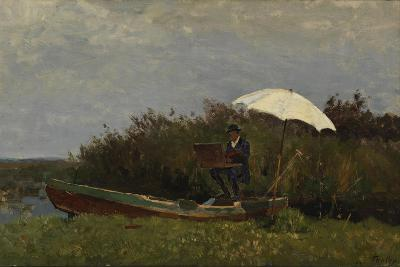 The Painter Gabriël Working in a Boat, 1882-Willem Bastiaan Tholen-Giclee Print