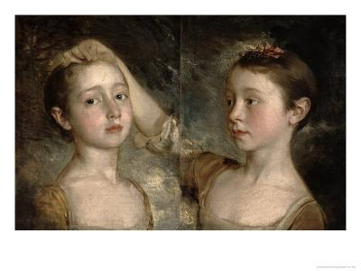 The Painter's Daughters Mary and Margaret, c.1758-Thomas Gainsborough-Giclee Print