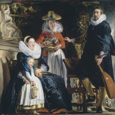 The Painter's Family-Jacob Jordaens-Giclee Print