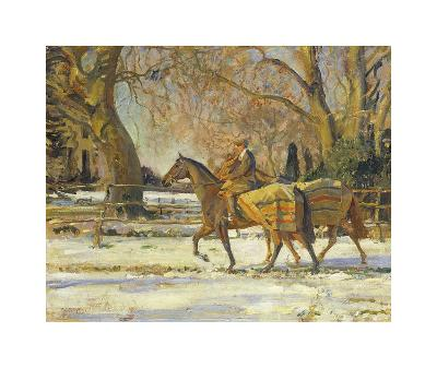 The Painter's Groom-Sir Alfred Munnings-Premium Giclee Print