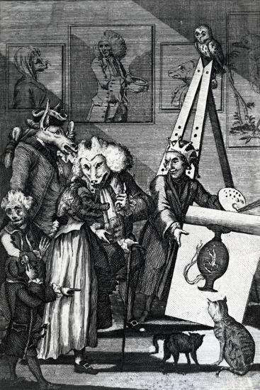The Painter Submitting His Picture to the Examination of Connoisseurs and Antiquarians, 1774--Giclee Print