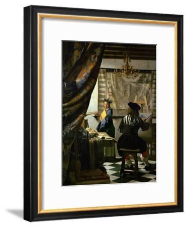 The Painter (Vermeer's Self-Portrait) and His Model as Klio-Johannes Vermeer-Framed Giclee Print