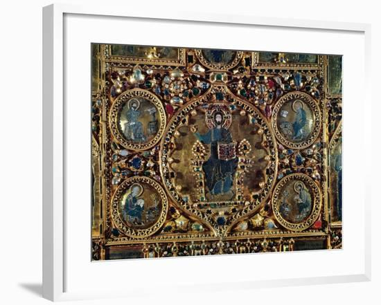 The Pala D'Oro, Detail of Christ in Majesty with the Evangelists-Byzantine-Framed Giclee Print