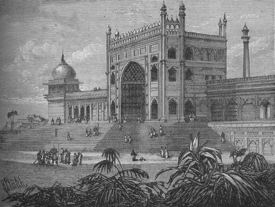 'The Palace at Delhi', c1880-Unknown-Giclee Print