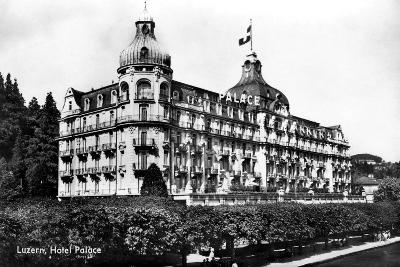 The Palace Hotel, Lucerne, Switzerland, Early 20th Century--Giclee Print