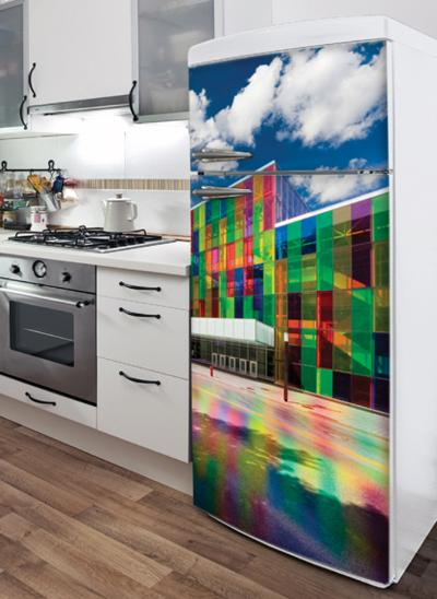 The Palace of Colours Refrigerator Decal--Wall Decal