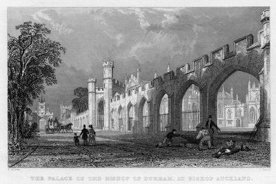 The Palace of the Bishop of Durham, at Bishop Auckland, 1833--Giclee Print