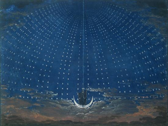 The Palace of the Queen of the Night, Set Design for 'The Magic Flute' by Wolfgang Amadeus Mozart-Schinkel-Giclee Print