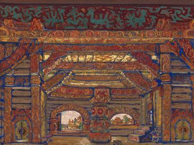 The Palace of Tsar Berendey, Stage Design for the Theatre Play Snow Maiden by A. Ostrovsky, 1912-Nicholas Roerich-Giclee Print