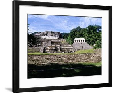 The Palace, the Temple X and the Temple of the Inscriptions--Framed Giclee Print