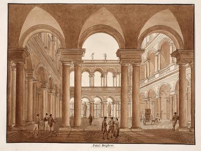 The Palazzo Borghese, 1833-Agostino Tofanelli-Giclee Print