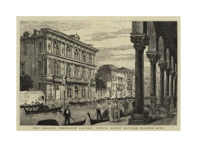 The Palazzo Vendramin Calergi, Venice, Where Richard Wagner Died--Giclee Print