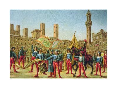 The Palio Di Siena--Giclee Print