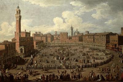 The Palio, Piazza Del Campo, Siena-Giuseppe Zocchi-Giclee Print