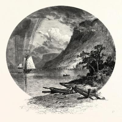 The Palisades, from the River-John Douglas Woodward-Giclee Print