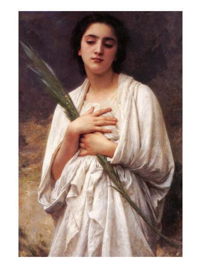 The Palm Leaf-William Adolphe Bouguereau-Art Print