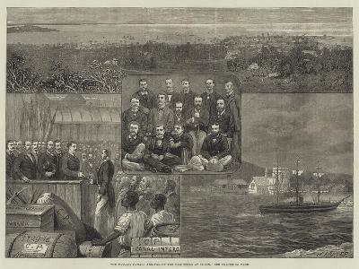 The Panama Canal, Arrival of the Engineers at Colon--Giclee Print