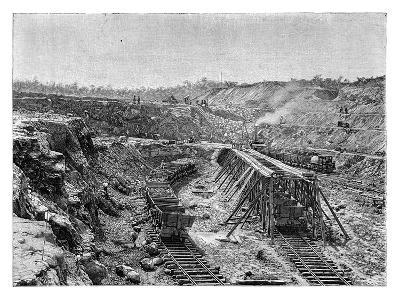 The Panama Canal under Construction, C1890--Giclee Print