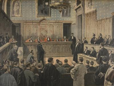 The Panama Trial, Illustration from 'Le Petit Journal: Supplement Illustre', 2nd January 1898-Fortuné Louis Méaulle-Giclee Print