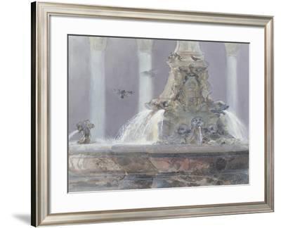 The Pantheon Fountain, Rome, 1983-Glyn Morgan-Framed Giclee Print