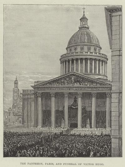 The Pantheon, Paris, and Funeral of Victor Hugo--Giclee Print