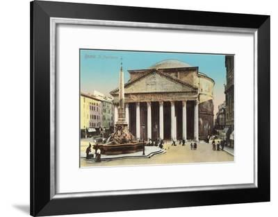The Pantheon, Rome--Framed Art Print