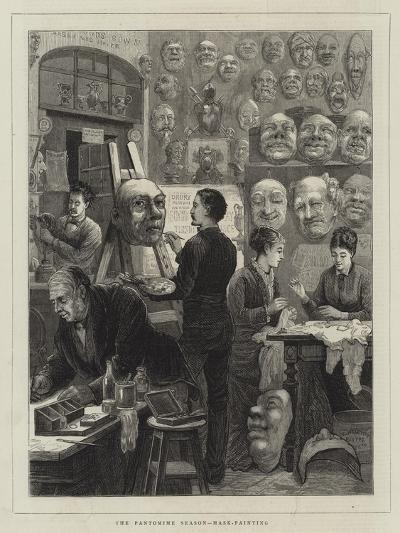 The Pantomine Season, Mask-Painting--Giclee Print