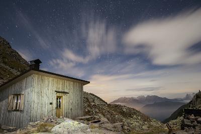 The Paolo E Nicola Hut and Forecella Valmaggiore Bathed in Starlight-Ulla Lohmann-Photographic Print