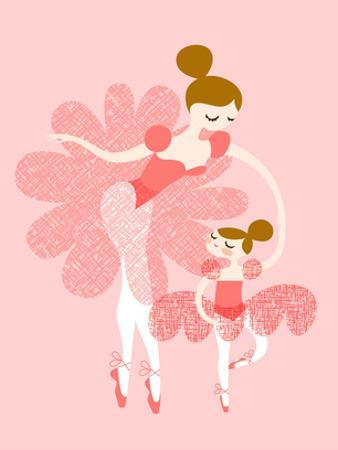 Ballerina Mother Daughter by The Paper Nut