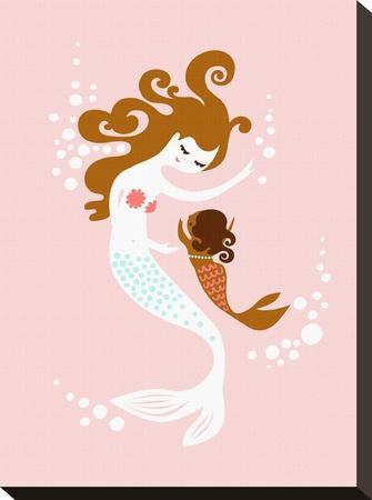 Mermaid Baby Girl by The Paper Nut