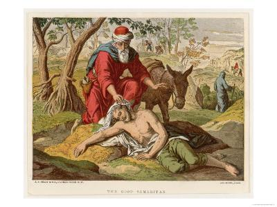 The Parable of the Good Samaritan Who Unlike Others Didn't Pass by on the Other Side--Giclee Print