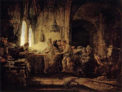 The Parable of the Labourers in the Vineyard, 1637-Rembrandt van Rijn-Giclee Print