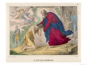"""The Parable of """"The Prodigal Son"""" Welcomed Home by His Father"""