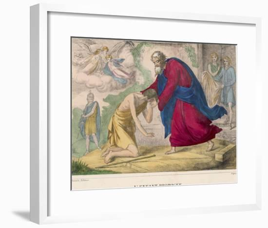 """The Parable of """"The Prodigal Son"""" Welcomed Home by His Father--Framed Giclee Print"""