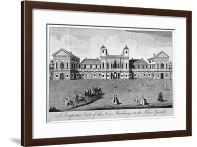 The Parade at Horse Guards, Westminster, London, 1752--Framed Giclee Print